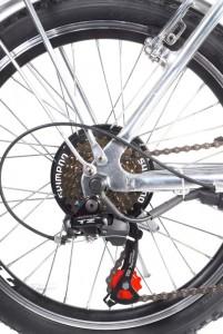 Las bicicletas eléctricas vienen con cambios Shimano