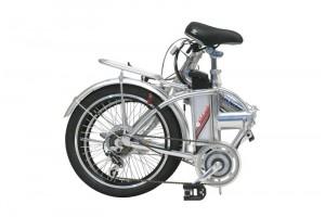 Bicicleta eléctrica de pedaleo asistido plegada
