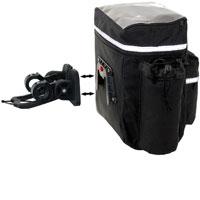 Bolsa delantera de nylon con clip para fijar en el manillar de la bicicleta