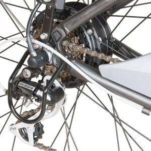 Bici eléctrica Pedalec City 5000SP. Detalle cambios