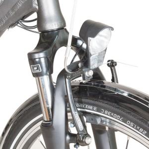 Bici eléctrica Pedalec City 5000SP. Detalle horquilla
