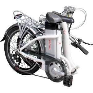 Bici eléctrica Pedalec City 1000, plegada
