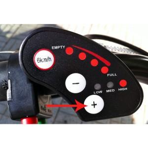 Bici eléctrica Pedalec City 1000, detalle